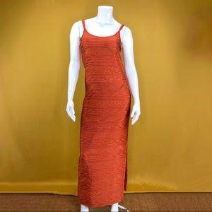 NEWPORT NEWS Rust Orange Maxi Dress Size 6